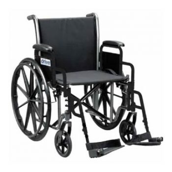 Drive Medical Silver Sport 2 Wheelchair with Fixed Arms Legrest