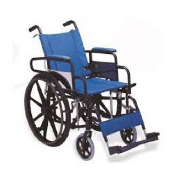 Heavy duty Powder Coated Wheel Chair with Extended Leg Rest