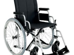 Wheelchair with flip back desk arms elevating leg rests