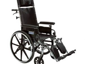 Viper Plus Light Weight Reclining Wheelchair with Elevating Leg Rests and Flip Back Detachable Arms