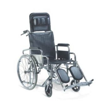 Reclining Wheel Chair with Elevated Foot Rest